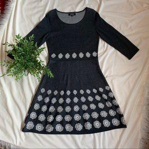 Nine West Gray Sweater Dress Size Small